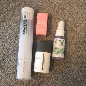 It cosmetics brush and skin care products